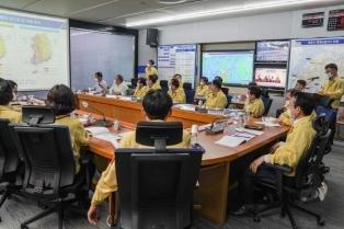 [포토] 목포시, 제8호 태풍 '바비'대비 대책회의