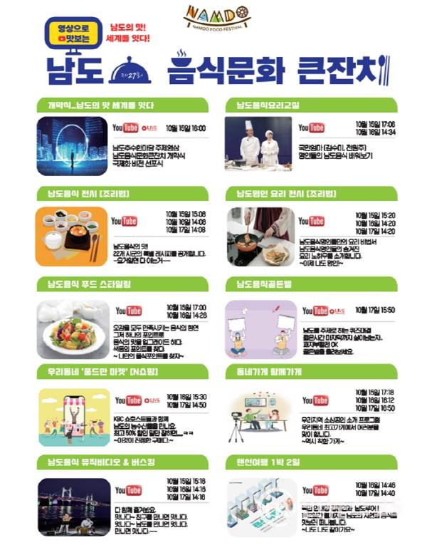 영상으로 맛보는 남도음식문화큰잔치 15일 개막